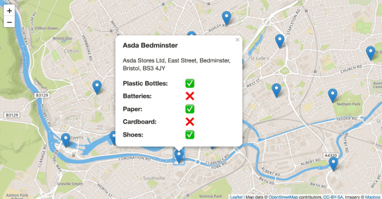 Map with CSS styling