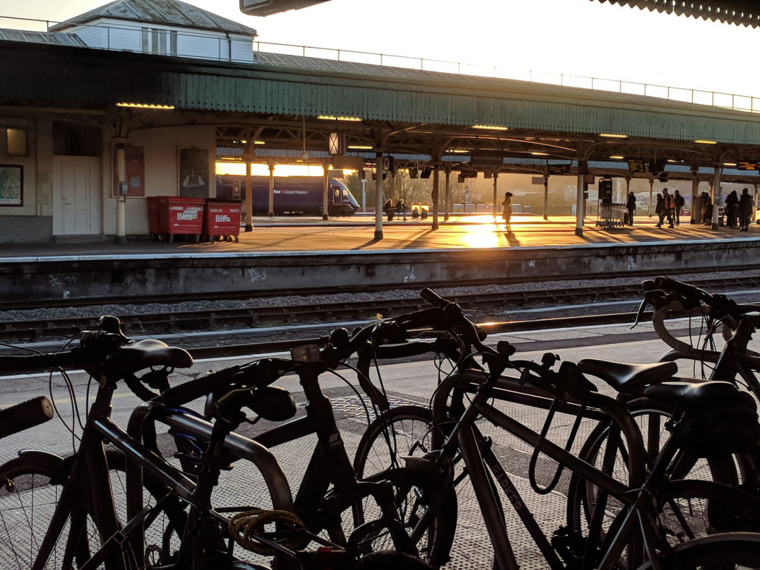 The starting point of our away day: Temple Meads railway station at the break of day