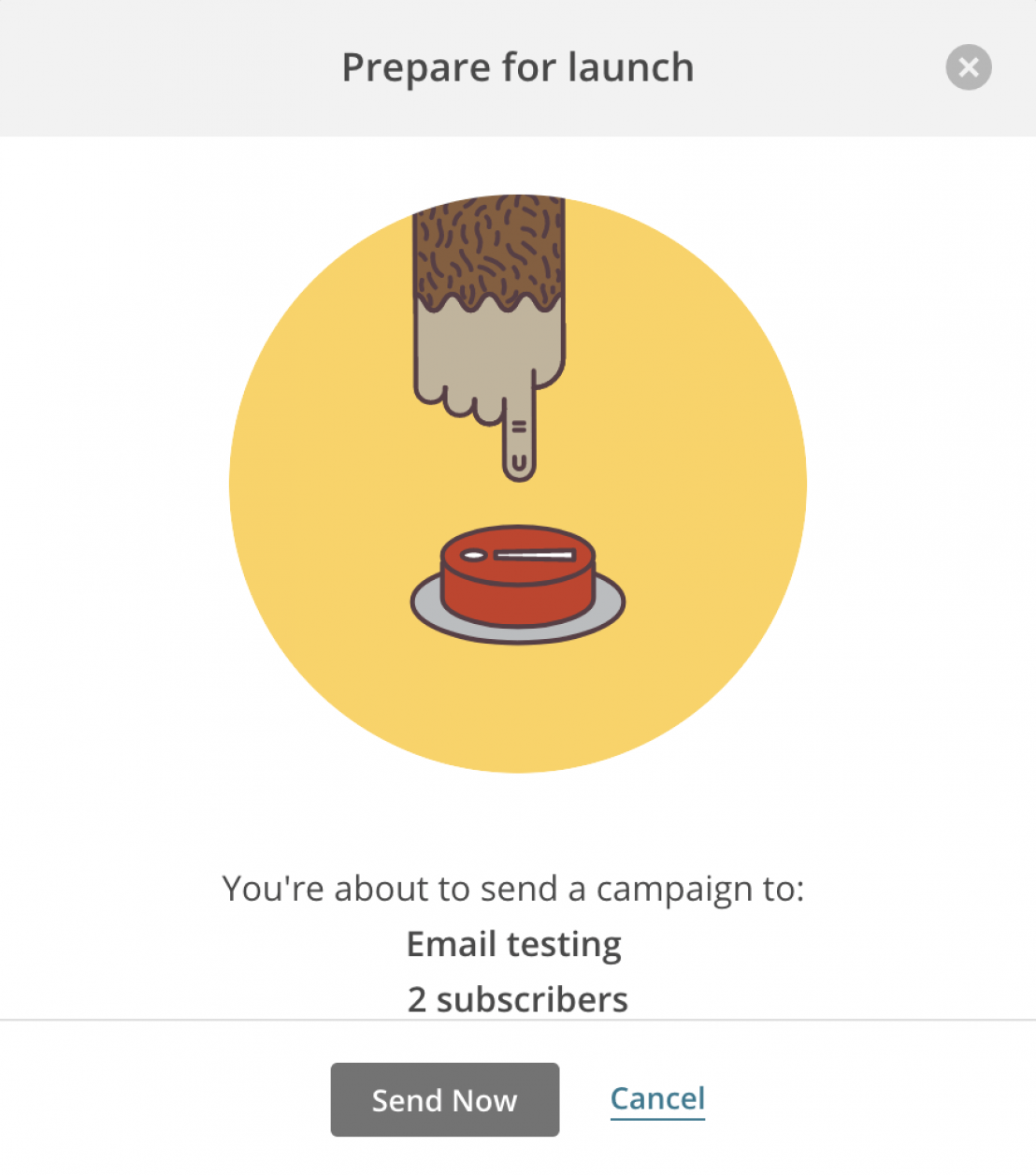 Prepare for launch - sending an email through MailChimp