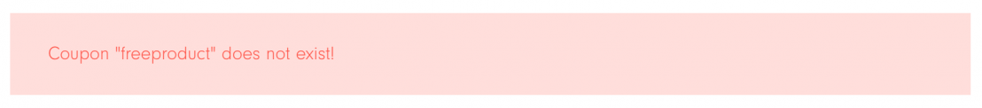 Image showing a styled WooCommerce error message.