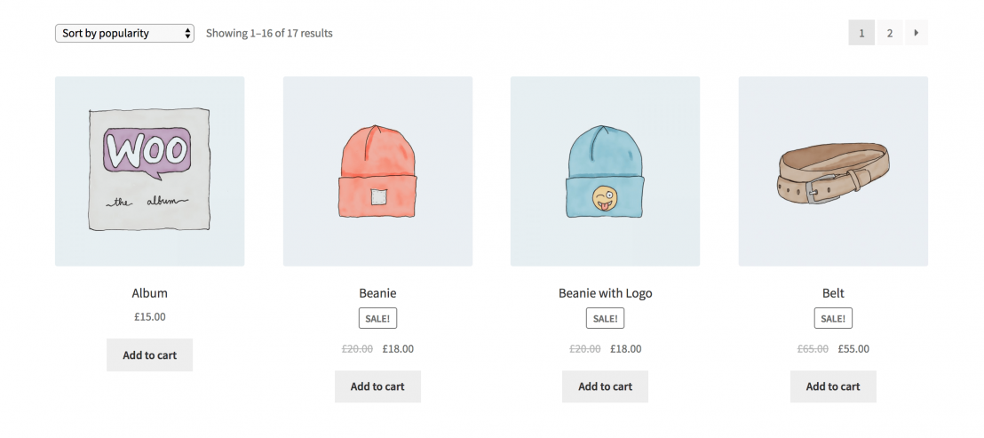 image of sale badge on woocommerce shop page