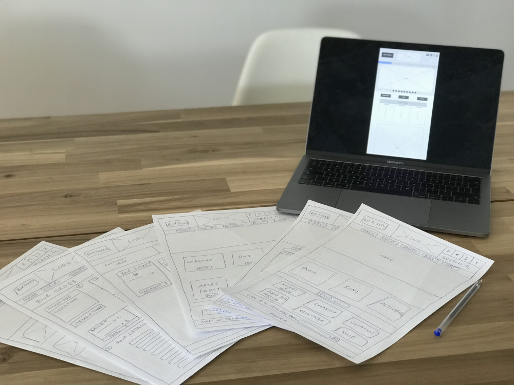 Wireframes - work experience