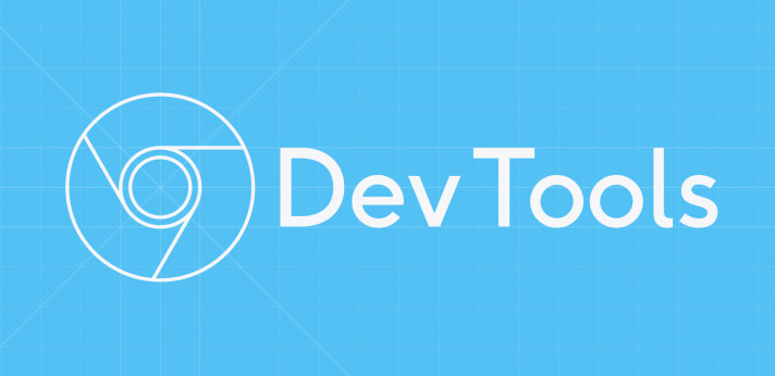 Illustration of the Chrome DevTools logo on a blue background.