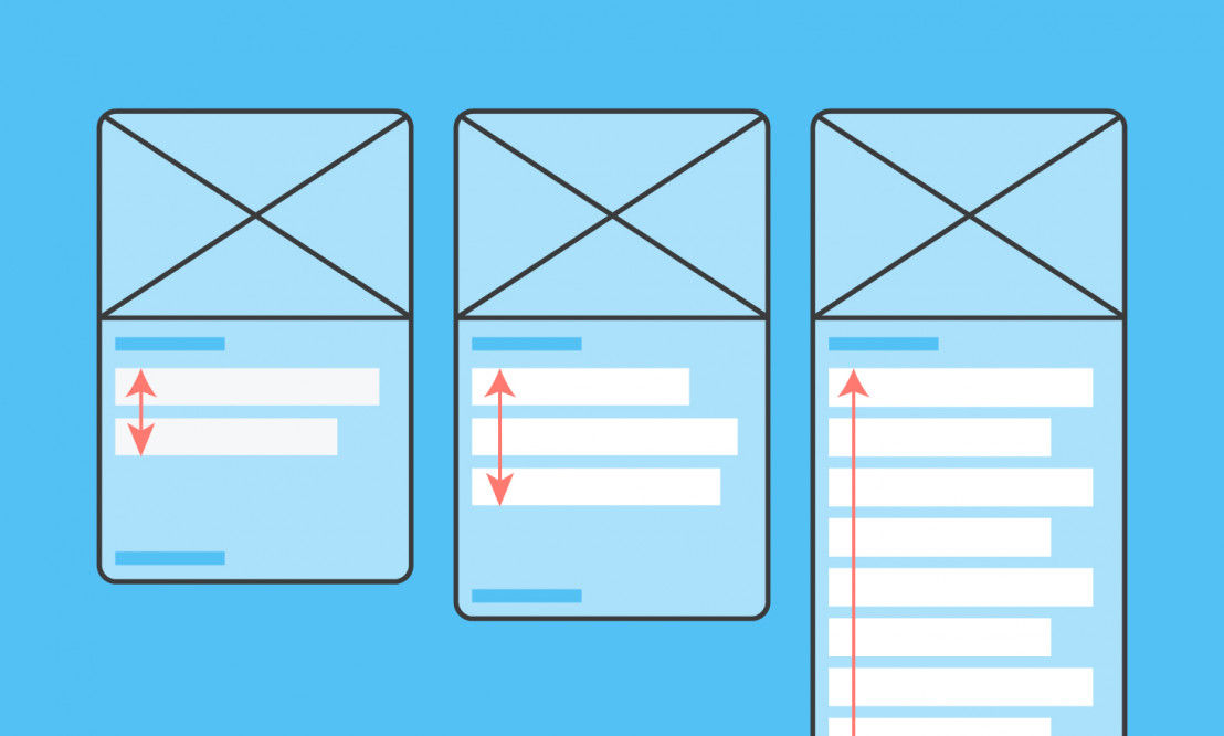 An illustration of a modular web page design