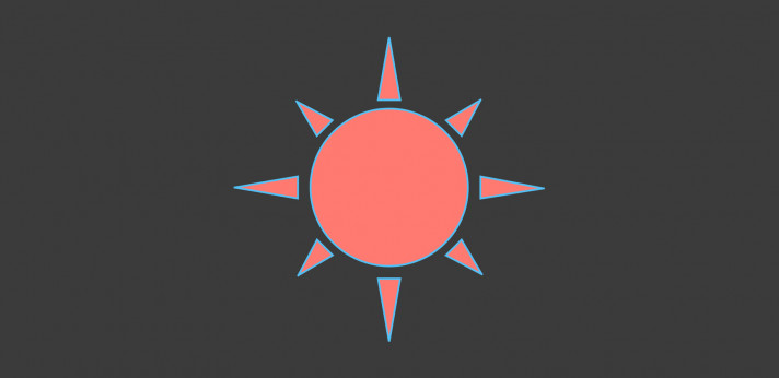 Animated SVG sunshine
